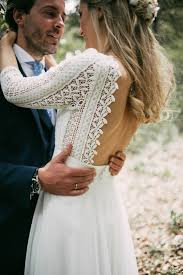 A Bohemian Backless Gown For Woodland Wedding In Spain