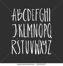 Rustic Font Unique Handdrawn Alphabet Latin Stock Vector 614041457