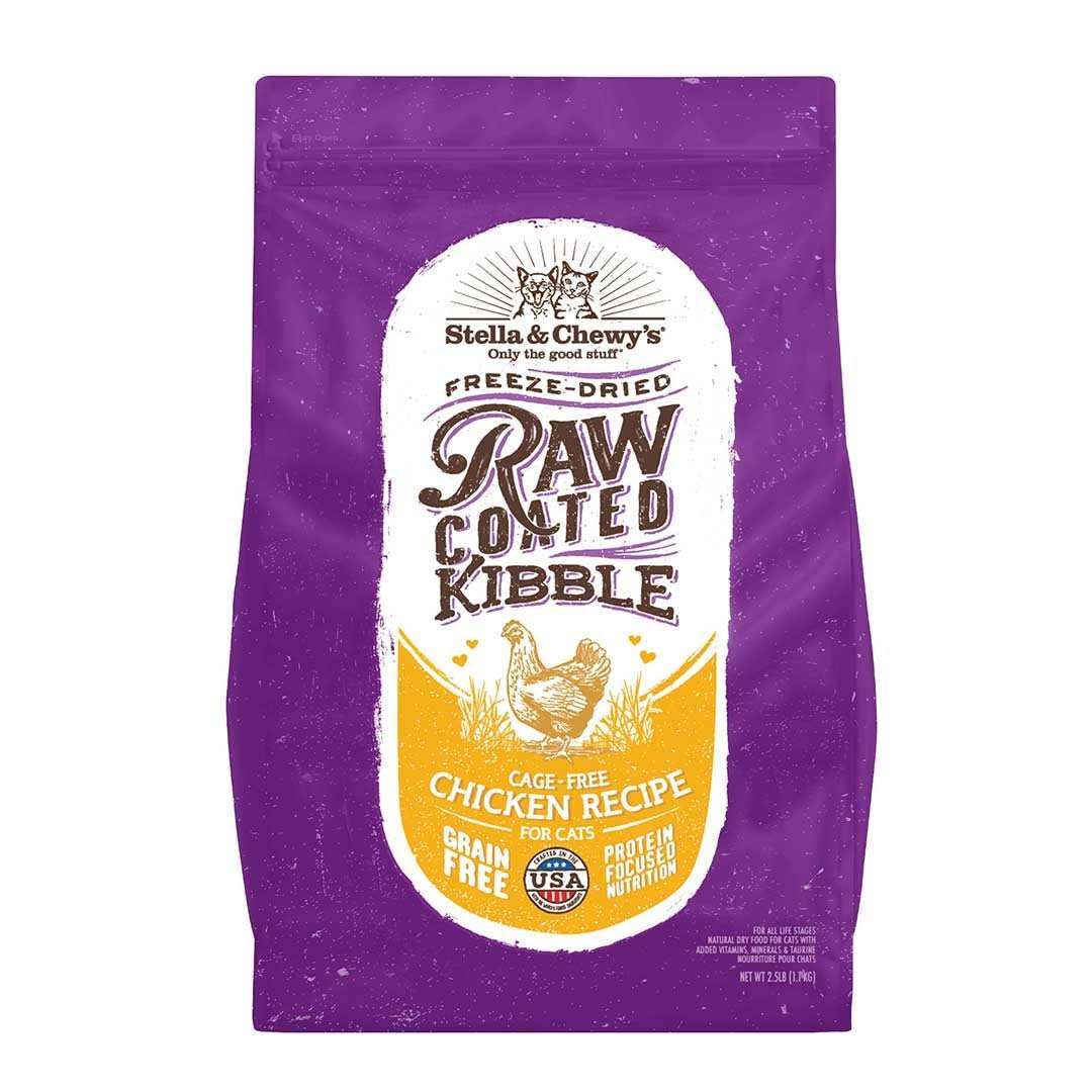 Stella & Chewy's Raw Coated Cage Free Chicken Dry Cat Food 2.5-lb