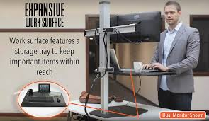 Dual Monitor Standing Desk Attachment by Amazon Com Stand Steady Winston Workstation Dual Monitor Mount