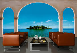 Wall Mural Decals Beach to paint a beach wall murals scene laluz nyc home design