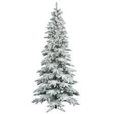 White Flocked Pencil Christmas Tree by Amazon Com Vickerman Flocked Slim Utica Tree With Dura Lit 300
