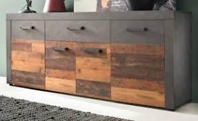 details zu sideboard wood design grau wohnzimmer kommode esszimmer anrichte 180 cm indy
