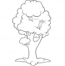 Here is what your easy tree looks like when you are all done with your drawing Now you can color it in to really plete your tree