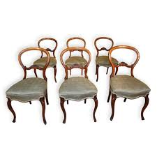 Set Of 6 Antique Victorian Balloon Back Dining Chairs By ... Antique Victorian Ref No 03505 Regent Antiques Set Of Ten Mahogany Balloon Back Ding Chairs 6 Walnut Eight 62 Style Ebay Finely Carved Quality Four C1845 Reproduction Balloon Back Ding Chairs Fiddleback Style Table And In Traditional Living Living Room Upholstery 8 Upholstered Lloonback Antique French