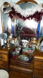 Waterfall Vanity Dresser Set antique 3 drawer dresser with round mirror u2013 vinofestdc com