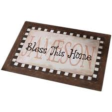 Walmart Outdoor Rugs 5 X 7 by Personalized Bless This Home Doormat 17 X 27 Available In 5