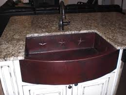 33x22 Copper Kitchen Sink by Med Rounded Front Farmhouse Sink Copper Sinks Online