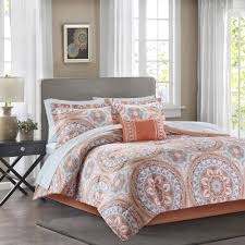Coral Colored Bedding by American Original Geo Blocks Bed In A Bag Bedding Comforter Set