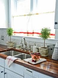Stainless Steel Kitchen Sink WIth Butcher Block Counter