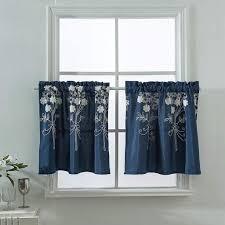 gardinen kurz küche bistrogardine blickdicht gestickt scheibengardinen baumwolle und polyester kurze vorhänge modern für fenster schrank 137 61 cm
