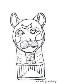 Cat Mummy Face Ancient Egyptian Cats A Coloring Book