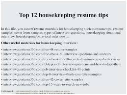 Sample Resume For Hospital Housekeeping Job Popular Objective Professional