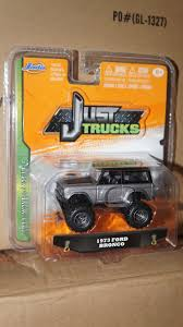 100 Just Trucks 1973 73 Ford Bronco Grey Black Jada Wave 2 164