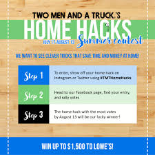 """TWO MEN AND A TRUCK® Kicks Off Summer """"Home Hacks"""" Social Contest ... Two Men And A Truck Vehicle Wrap Done By Monarch Media Designs Spartan Newsroom Mexico La Paz Three Men Lean On Stand Around Bed Of Pickup Truck Guys Seton School Mansas Two Men And A Truck Your Local Dayton Springfield Movers Page 3 Cost Guide Ma Moving In Winter Woerland Save Time Money Fort Lauderdale Boca Raton Home Facebook Case Study"""
