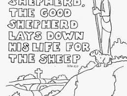 I Am The Good Shepherd Coloring Page