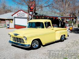 Truckdome.us » 1955 S Chevy Stepside Yellow Truck