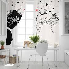 schwarz weiß katze zimmer vorhänge große fenster vorhang lichter wohnzimmer schlafzimmer küche outdoor kinder fenster behandlung schabracken