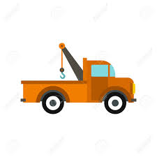 100 Tow Truck Clipart Car Icon In Flat Style Isolated On White Background