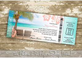 Destination Wedding Invitation DIY Print Your Own Boarding Pass Plane Ticket Cruise Ship