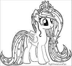 My Lil Pony Coloring Pages Ideas Little Characters For Ponies Printable