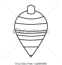 Black line striped spinning top toy vector illustration vectors