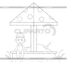 Kids Activities Outline Illustration