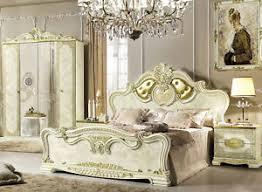 details zu schlafzimmer komplett set 4teile barock stil beige hochglanz italienische möbel