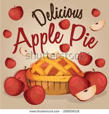 Apple Pie isolated with Apples Sweet tart dessert treat Vector illustration