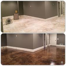 Covering Asbestos Floor Tiles Basement by How To Paint A Concrete Floor Concrete Floor Concrete And Basements