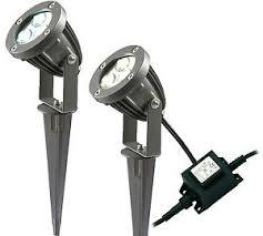 LED Garden Spike Light Kit 12v 3w LED per Spike Easy Install