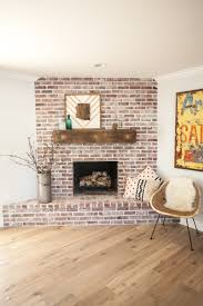 Custom Brick Fireplace With Antique White Mortar And Custom ... Gray Rustic Reclaimed Barn Beam Mantel 6612 X 6 5 Wood Fireplace Mantels Hollowed Out For Easy Contemporary As Wells Real 26 Projects That The Barnwood Builders Crew Would Wall Shelf Nyc Nj Ct Li Modern Timber Craft 66 8 Distressed Best 25 Wood Mantle Ideas On Pinterest 60 10 3