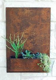 Metal Wall Hanging Planters Outdoor Wall Planter Hanging Wall