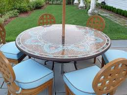 Round Patio Tablecloth With Umbrella Hole by Round Patio Table Top Replacement Rounddiningtabless Com
