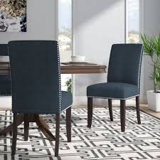 Willa Arlo Interiors Brucedale Upholstered Dining Chair ... Lily Navy Floral Ikat Accent Chair Navy And Crimson Ikat Ding Chair Cover Velvet Ding Chairs Tufted Blue Meridian Fniture C Angela Deluxe Indigo Pier 1 Imports Homepop Parson Multicolor Set Of 2 A Quick Living Room And Refresh Stripes Whimsy Loralie Upholstered Armchair With Walnut Finish Polyester Stunning And Brown Ideas Ridge Table Eclectic Decatorist Espresso Wood Ode To The Skirted Katie Considers