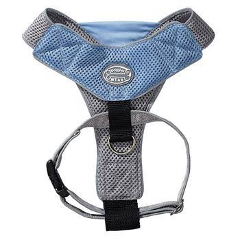 Doggles V Mesh Dog Harness - Blue/Gray, XX Small