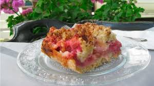 rezept rhabarberkuchen mit streuseln worlds of food