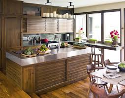 Small Primitive Kitchen Ideas by 15 Kitchen Designs With Stainless Steel Countertops 2118