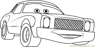 Darrell Cartrip From Cars 3 Coloring Page