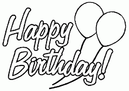 Excellent Coloring Page Birthday Card Perfect Ideas