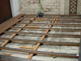 installer terrasse en bois sur carrelage