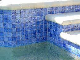 Waterline Pool Tile Designs by 2x2 Wave Blue Luvtile Pool Tile