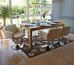 details zu esszimmerstuhl drehstuhl stuhl orlando kunstleder chrom creme