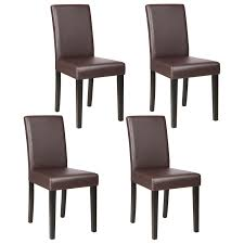 Details About Dining Chairs Set Of 1/2/4/6/8/10/12 Pieces Leather In Black  / Brown / White