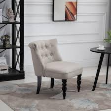 homcom relaxsessel vintage ruhesessel relaxstuhl leinenbezug holzgestell beige schwarz