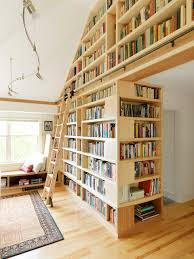 Rolling Library Ladder Family Room Rustic With Built In Bookshelf Bookshelves Floor To Ceiling