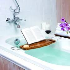 toilettree bamboo bathtub tray with expandable arms by toilettree
