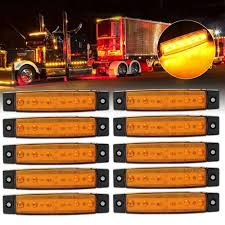 100 Truck Marker Lights Amazoncom Eaglerich 10pcs 12V 38 6 LED Red Side Led