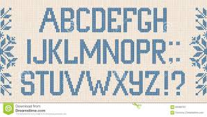 Christmas Font Scandinavian Style Knitted Letters And Pattern