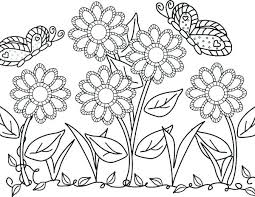 Cute Butterfly Coloring Pages Printable Flowers And Butterflies